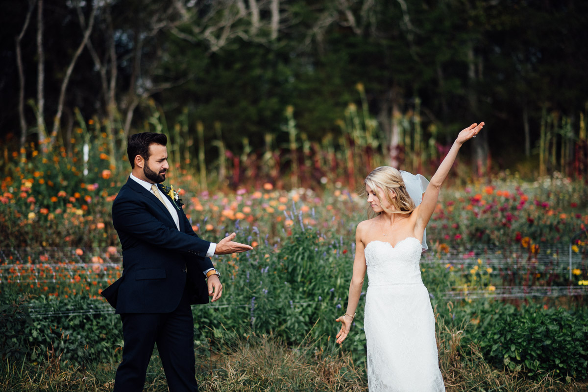 groom-showing-off-bride Becky and Alex | Green Door Gourmet - Fall Nashville Wedding