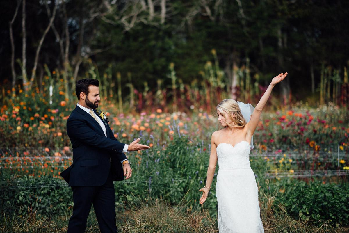 groom-showing-off-bride Becky and Alex   Green Door Gourmet - Fall Nashville Wedding
