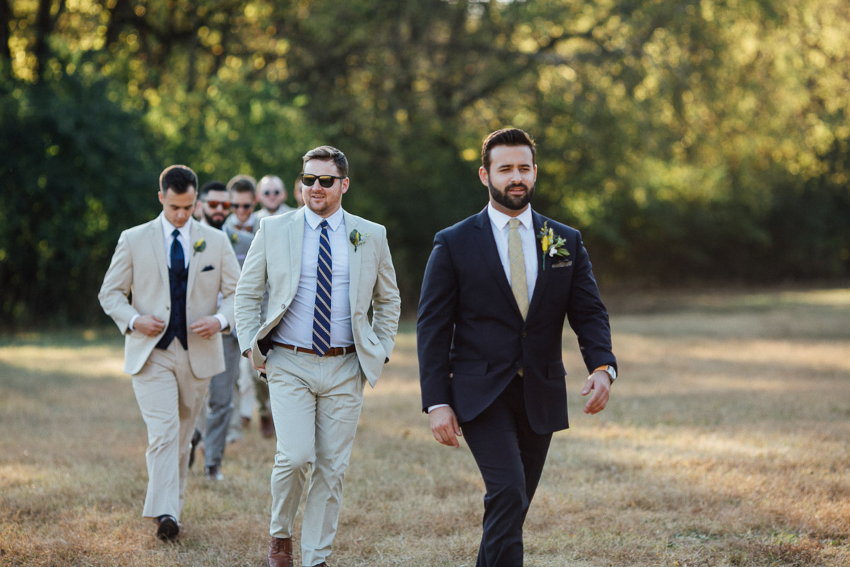 groom-walking-to-ceremony Becky and Alex | Green Door Gourmet - Fall Nashville Wedding