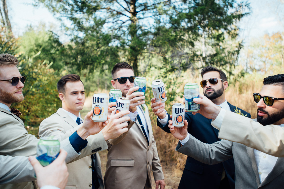 groomsmen-beers Becky and Alex | Green Door Gourmet - Fall Nashville Wedding