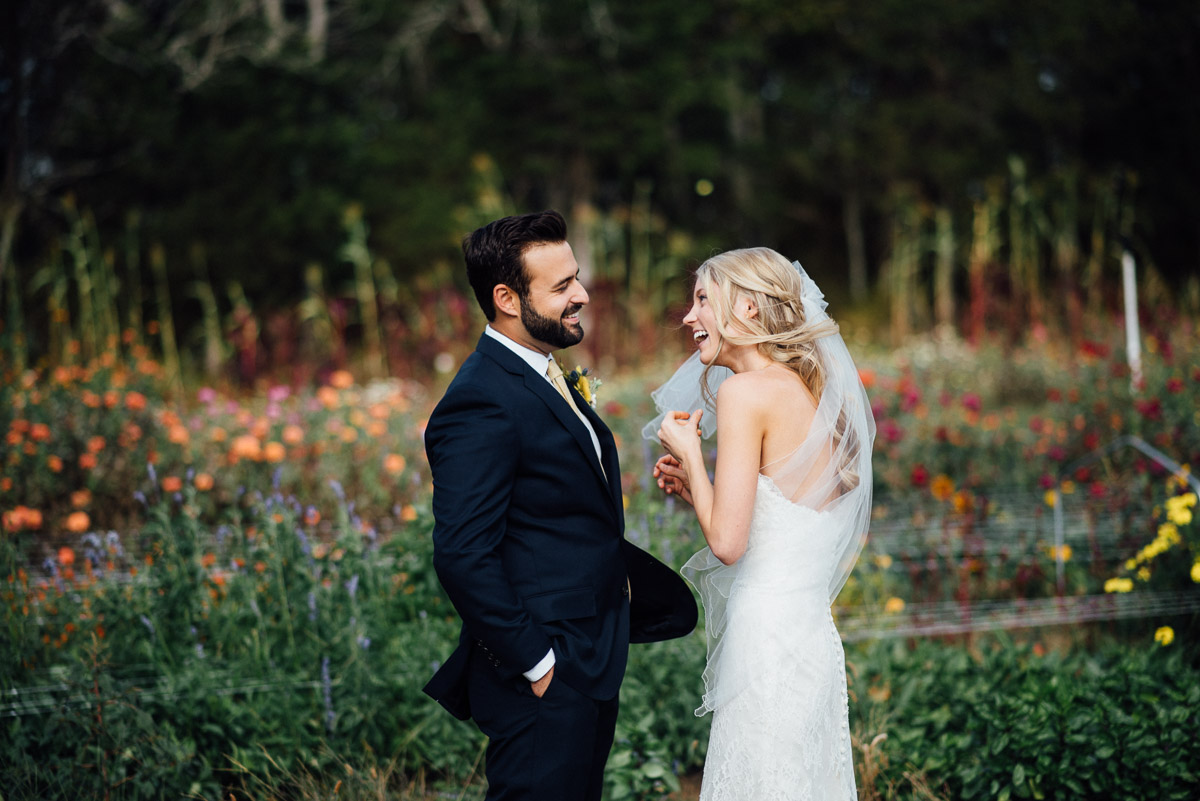 happy-couple Becky and Alex | Green Door Gourmet - Fall Nashville Wedding