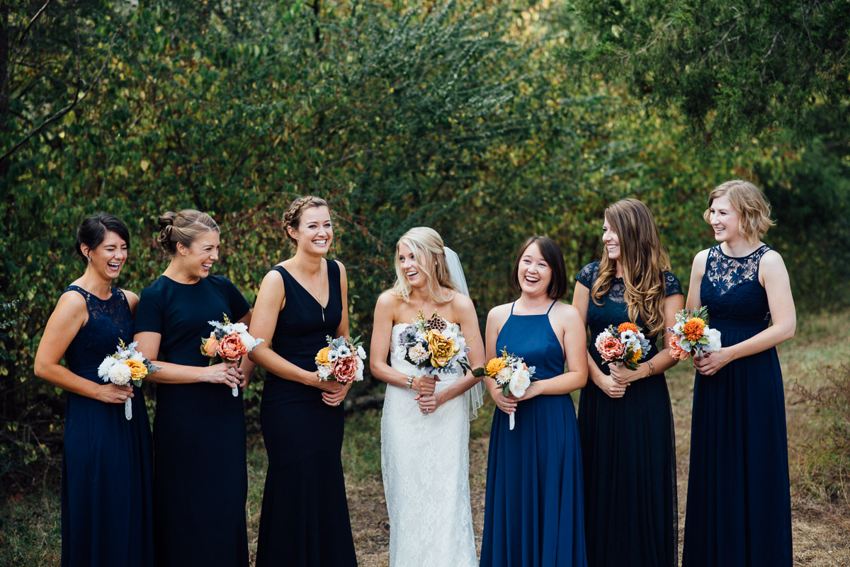 laughing-bridesmaids Becky and Alex | Green Door Gourmet - Fall Nashville Wedding