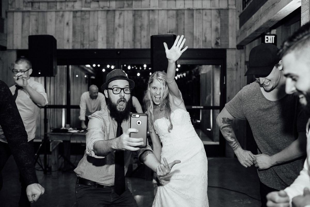 photographer-taking-selfie-with-bride Becky and Alex   Green Door Gourmet - Fall Nashville Wedding