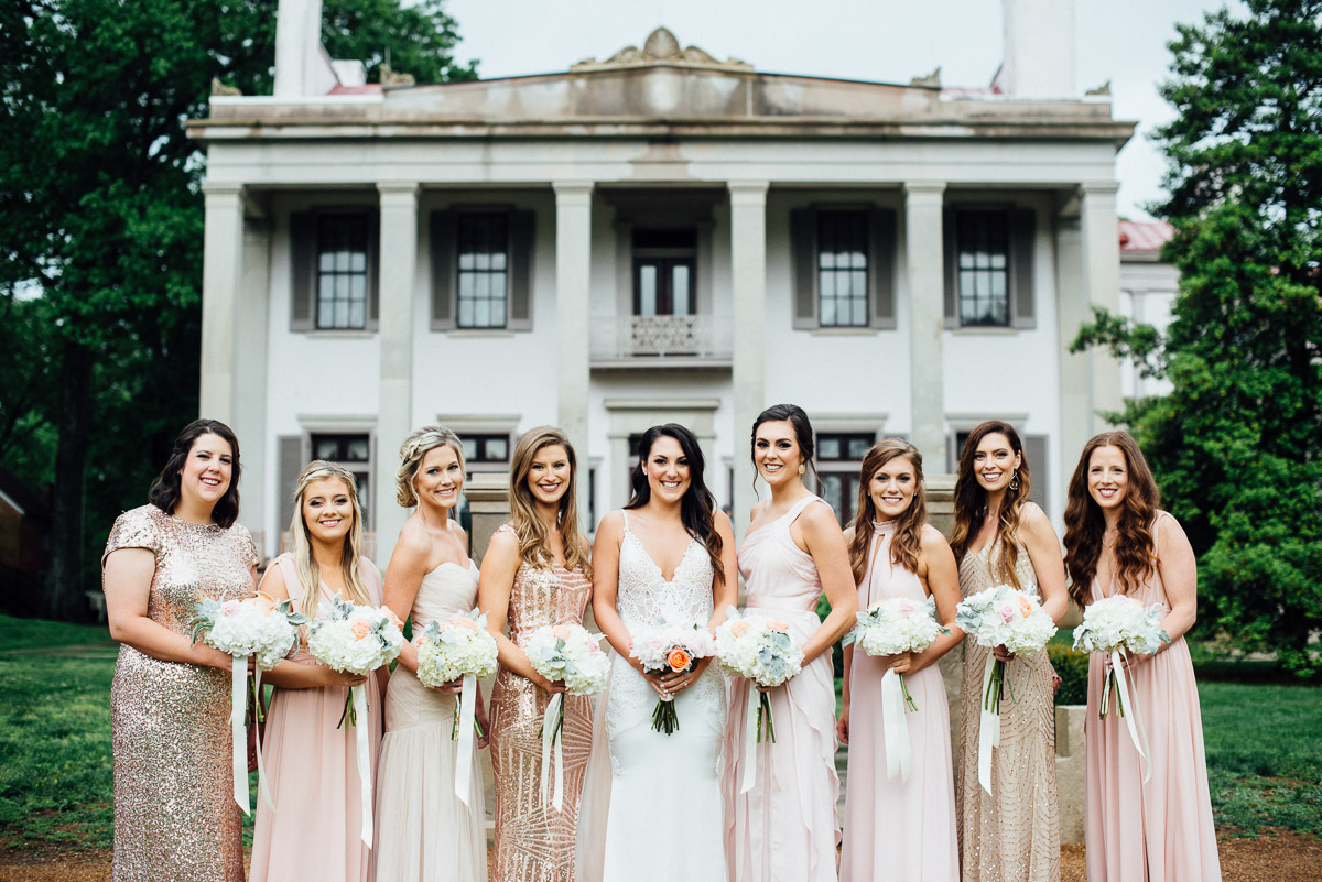 beautiful-mismatched-wedding-dresses Belle Meade Plantation Wedding | Kendall and Andrew