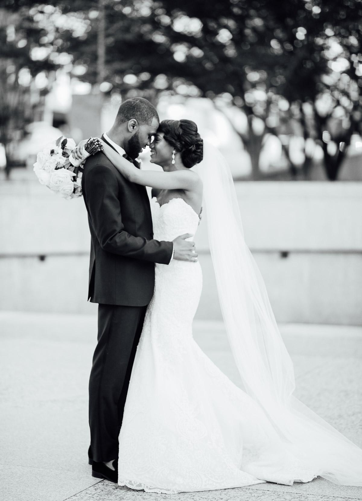 black-and-white-wedding-portraits Hermitage Hotel Wedding | Barbara and Darrius
