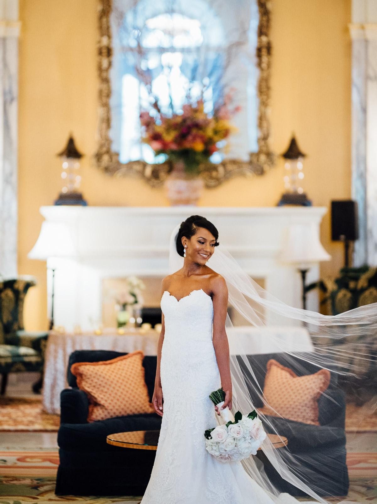 bridal-portrait-1 Hermitage Hotel Wedding | Barbara and Darrius