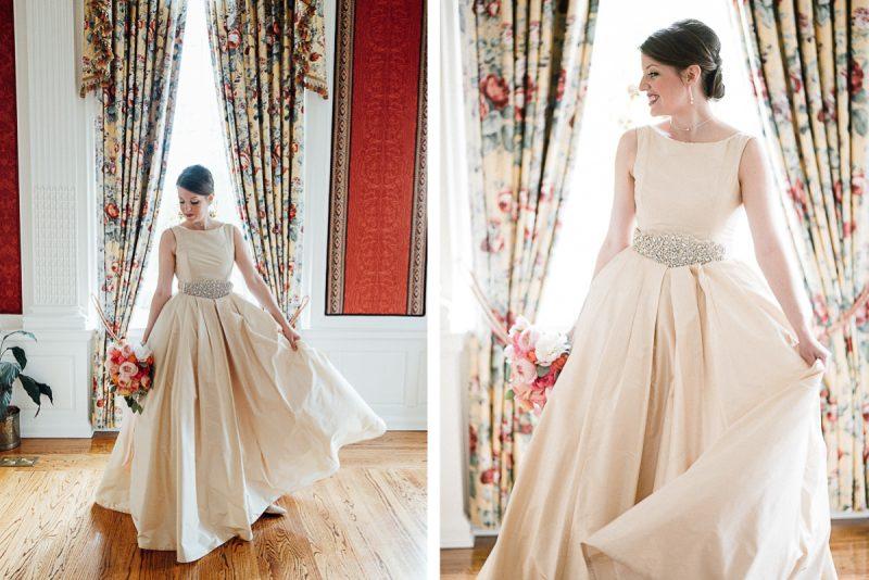 bride-dancing-beige-dress-800x534 The Mitchell House - Lebanon, TN Styled Wedding Shoot