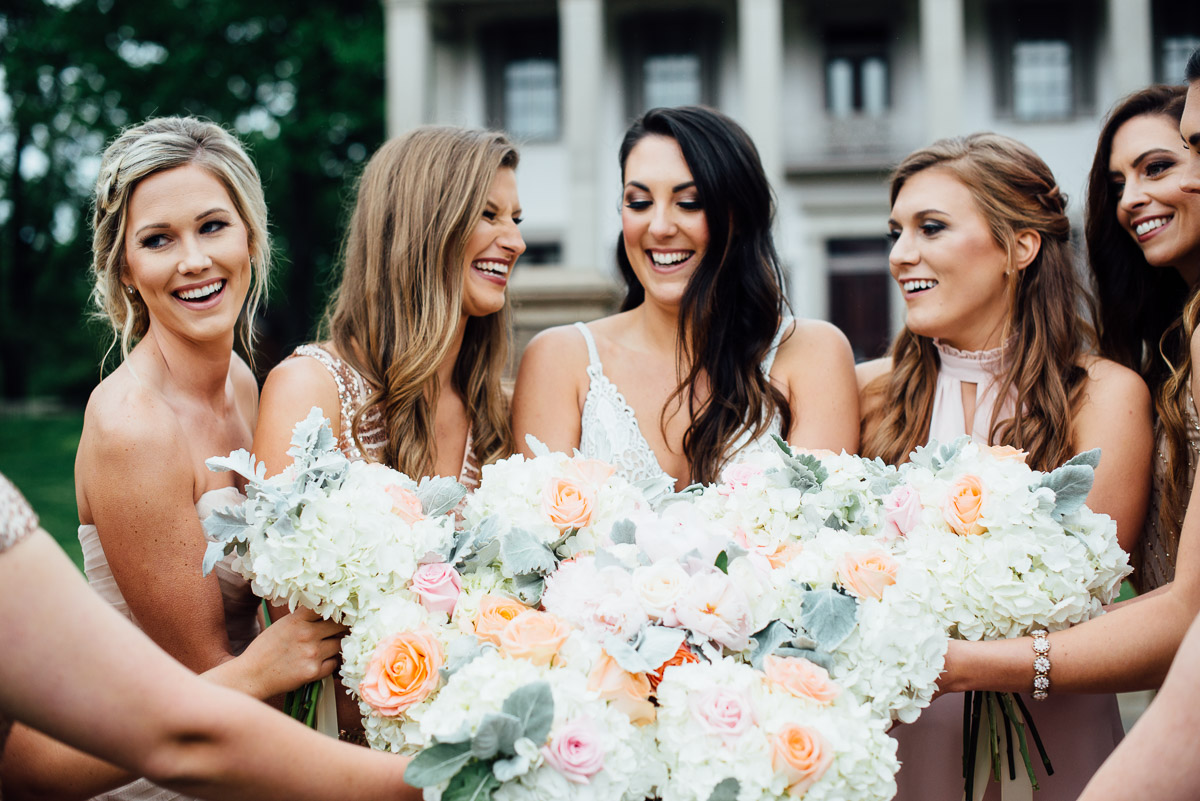 bridesmaids-beautiful-flowers Belle Meade Plantation Wedding | Kendall and Andrew
