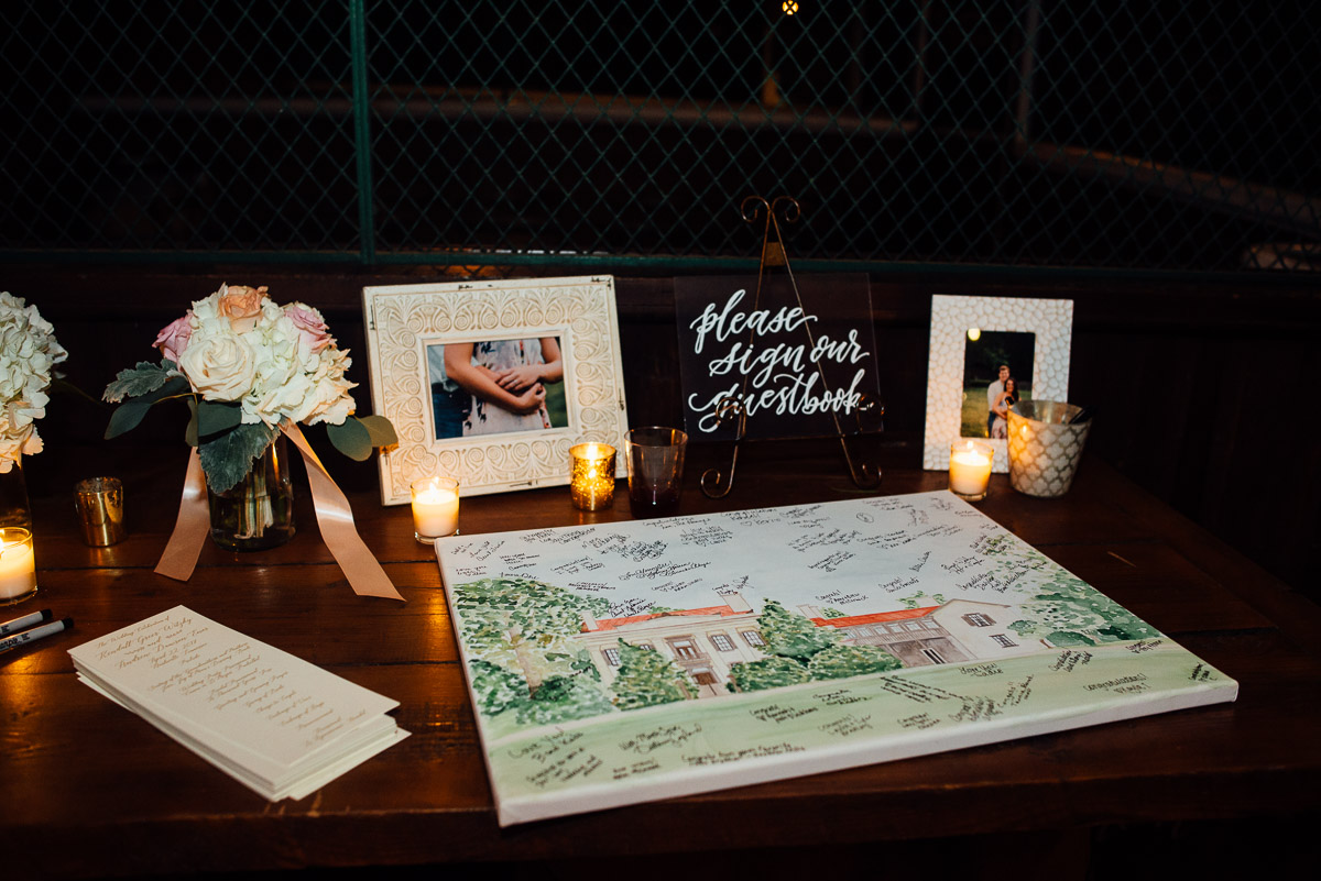 creative-wedding-guestbook-canvas Belle Meade Plantation Wedding | Kendall and Andrew