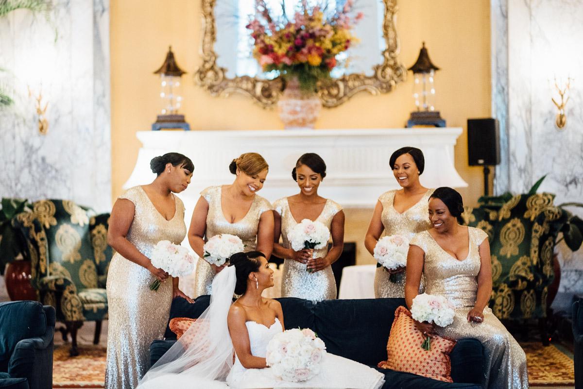 fun-bridesmaids Hermitage Hotel Wedding | Barbara and Darrius