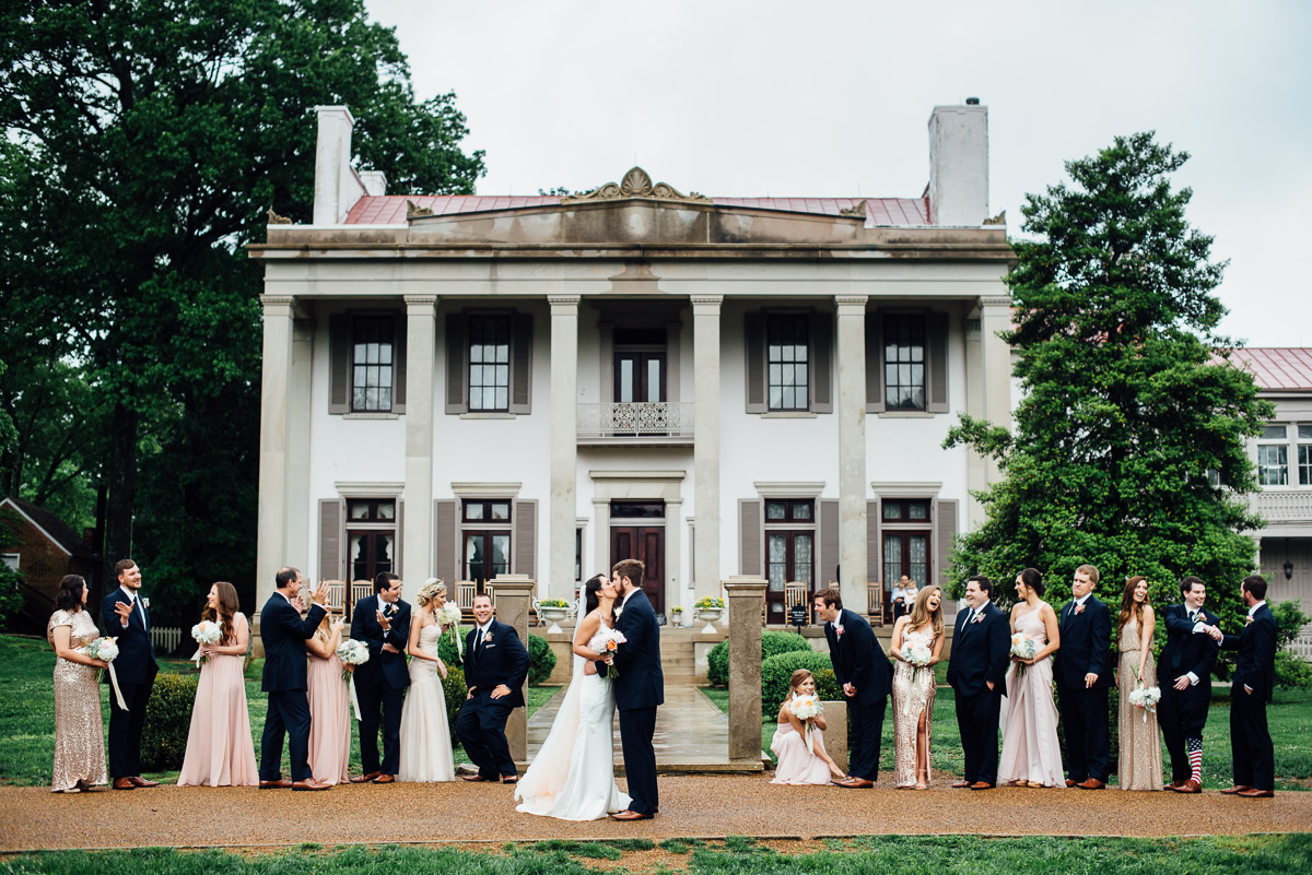 fun-wedding-party Belle Meade Plantation Wedding | Kendall and Andrew
