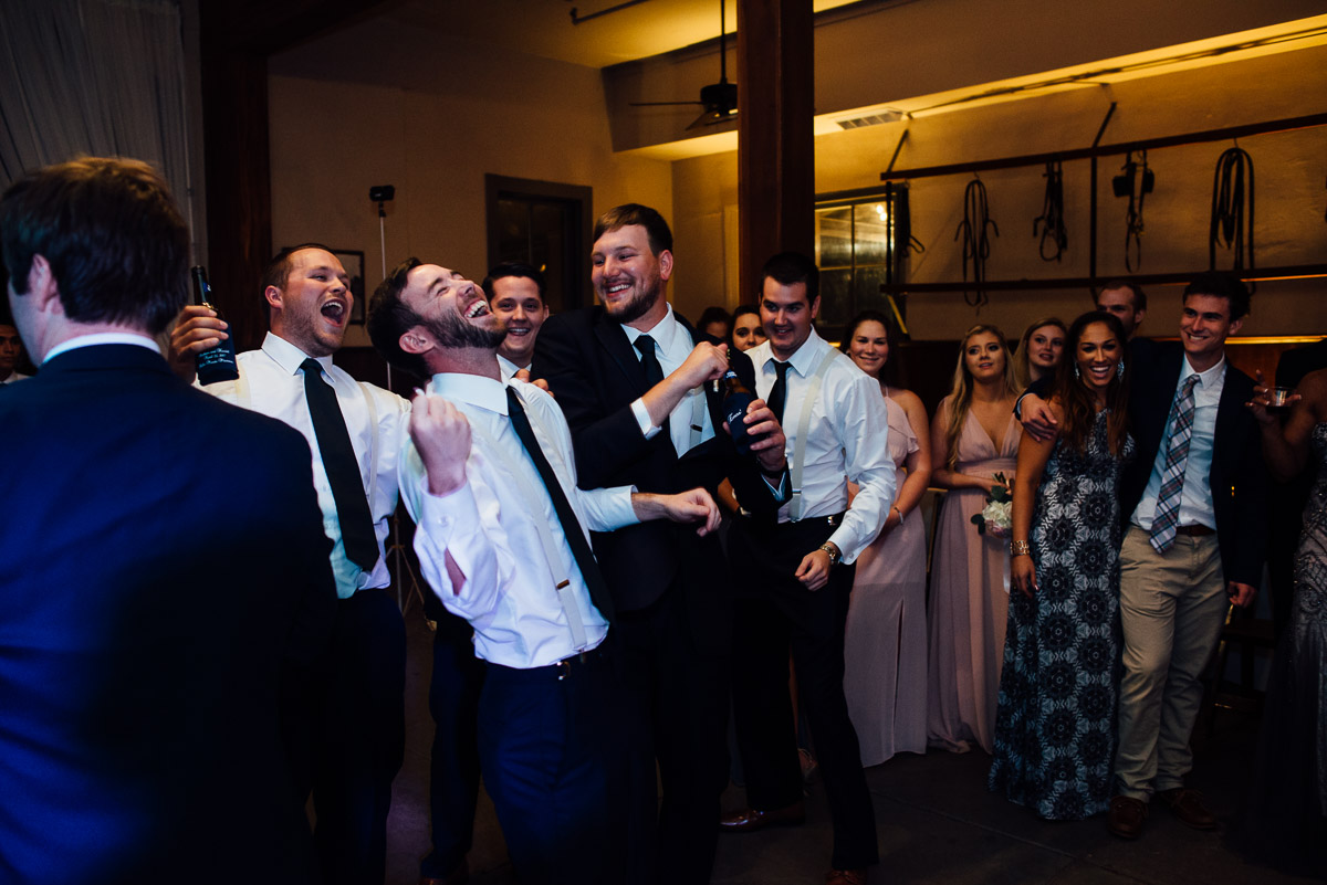 garter-toss Belle Meade Plantation Wedding | Kendall and Andrew