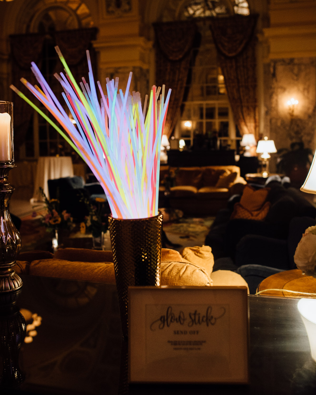 glow-stick-send-off Hermitage Hotel Wedding | Barbara and Darrius