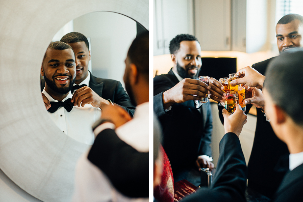 groom-getting-ready-shots Hermitage Hotel Wedding | Barbara and Darrius