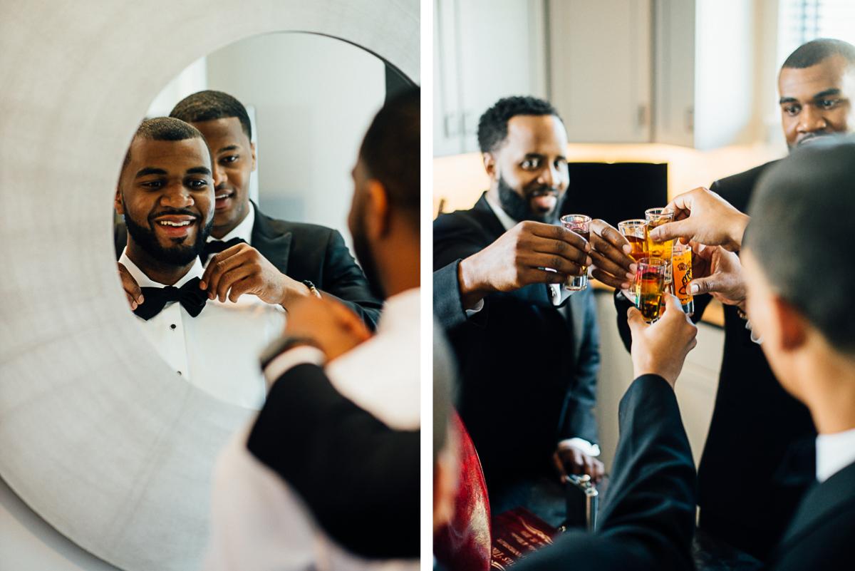 groom-getting-ready-shots Hermitage Hotel Wedding | Barbara and Darrius
