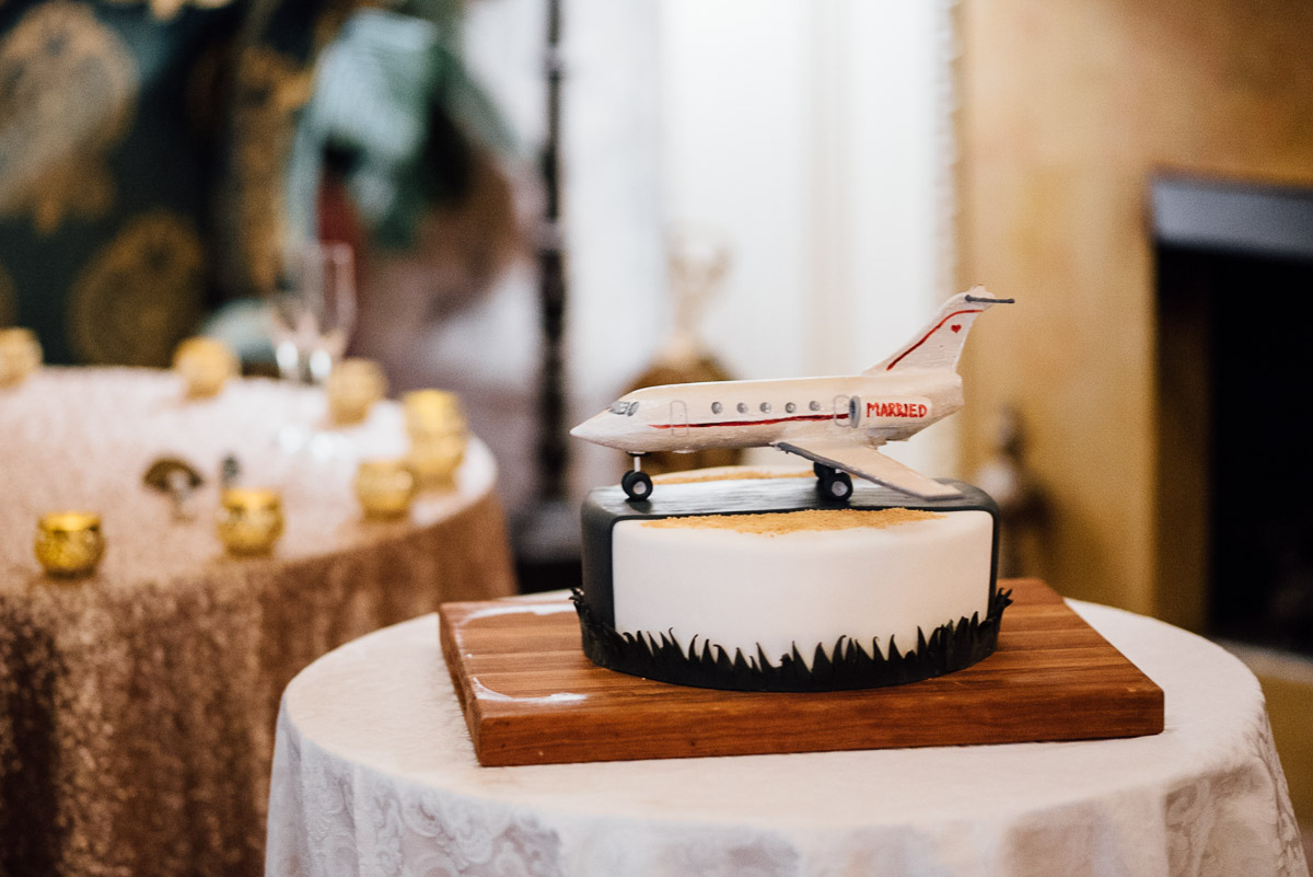 grooms-cake-airplane Hermitage Hotel Wedding | Barbara and Darrius