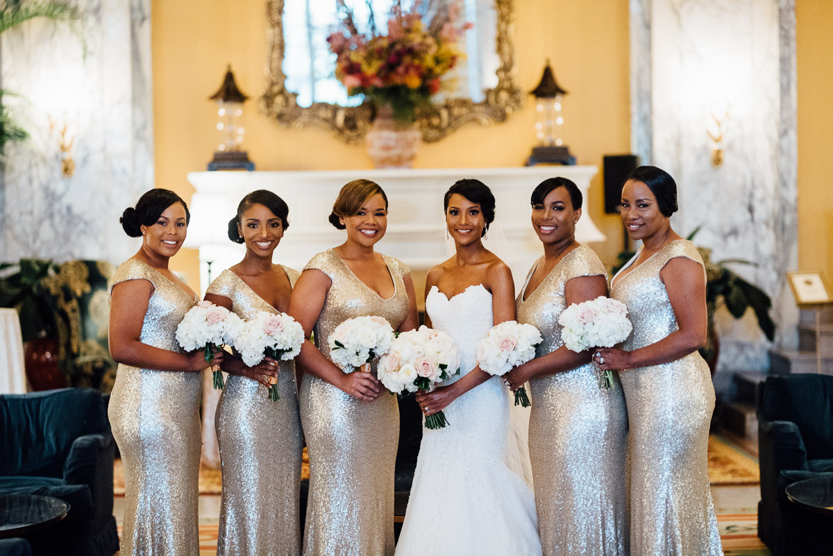 pretty-bridesmaids Hermitage Hotel Wedding | Barbara and Darrius
