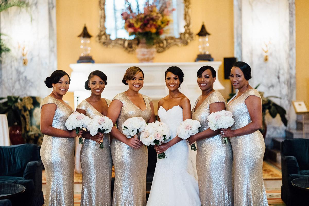 pretty-bridesmaids Hermitage Hotel Wedding | Barbara and Darrius