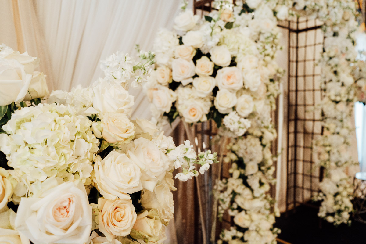 rose-centerpieces Hermitage Hotel Wedding | Barbara and Darrius