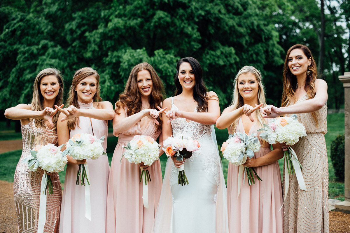 sorority-sisters-wedding-photo Belle Meade Plantation Wedding | Kendall and Andrew