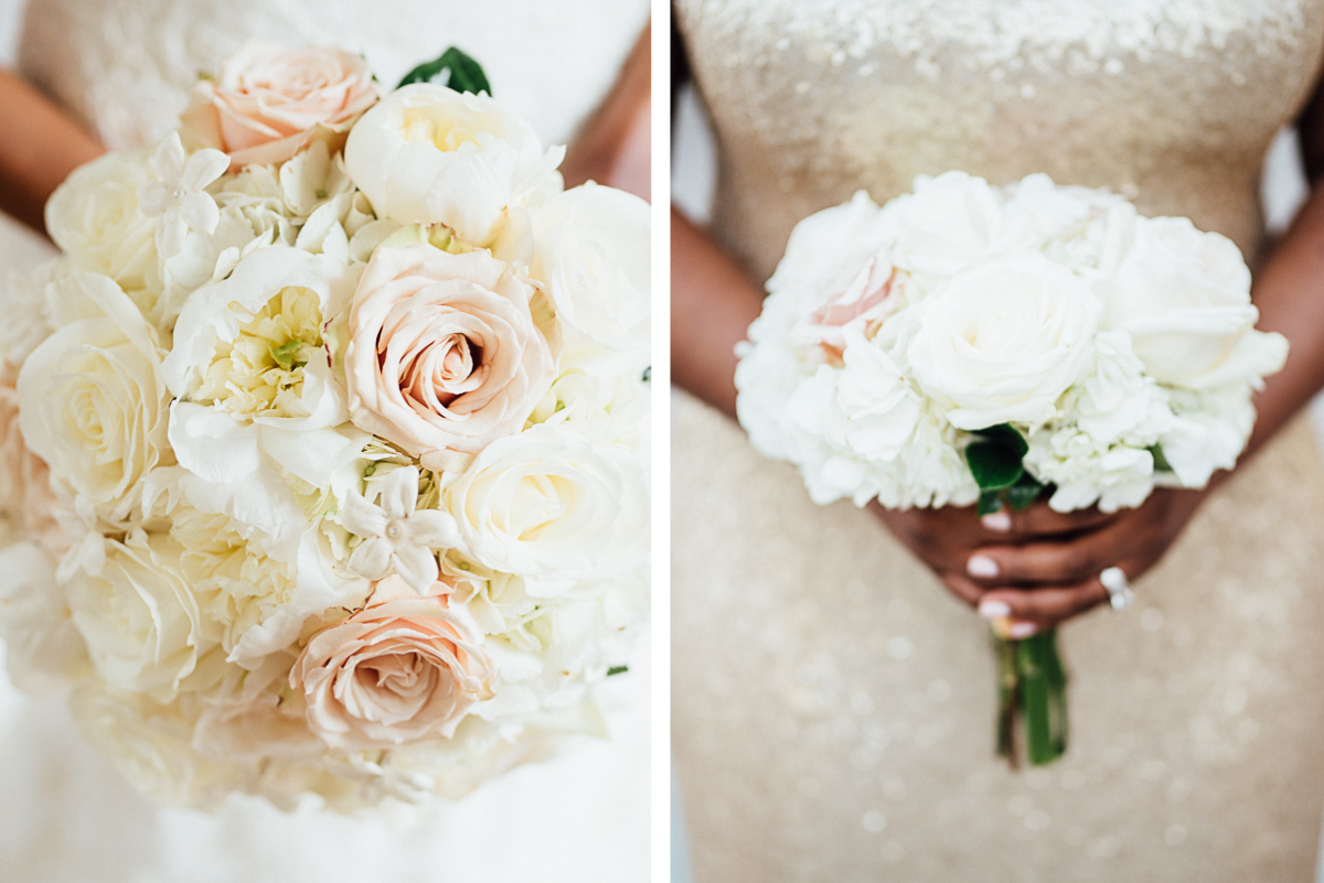 white-rose-wedding-bouquet Hermitage Hotel Wedding | Barbara and Darrius