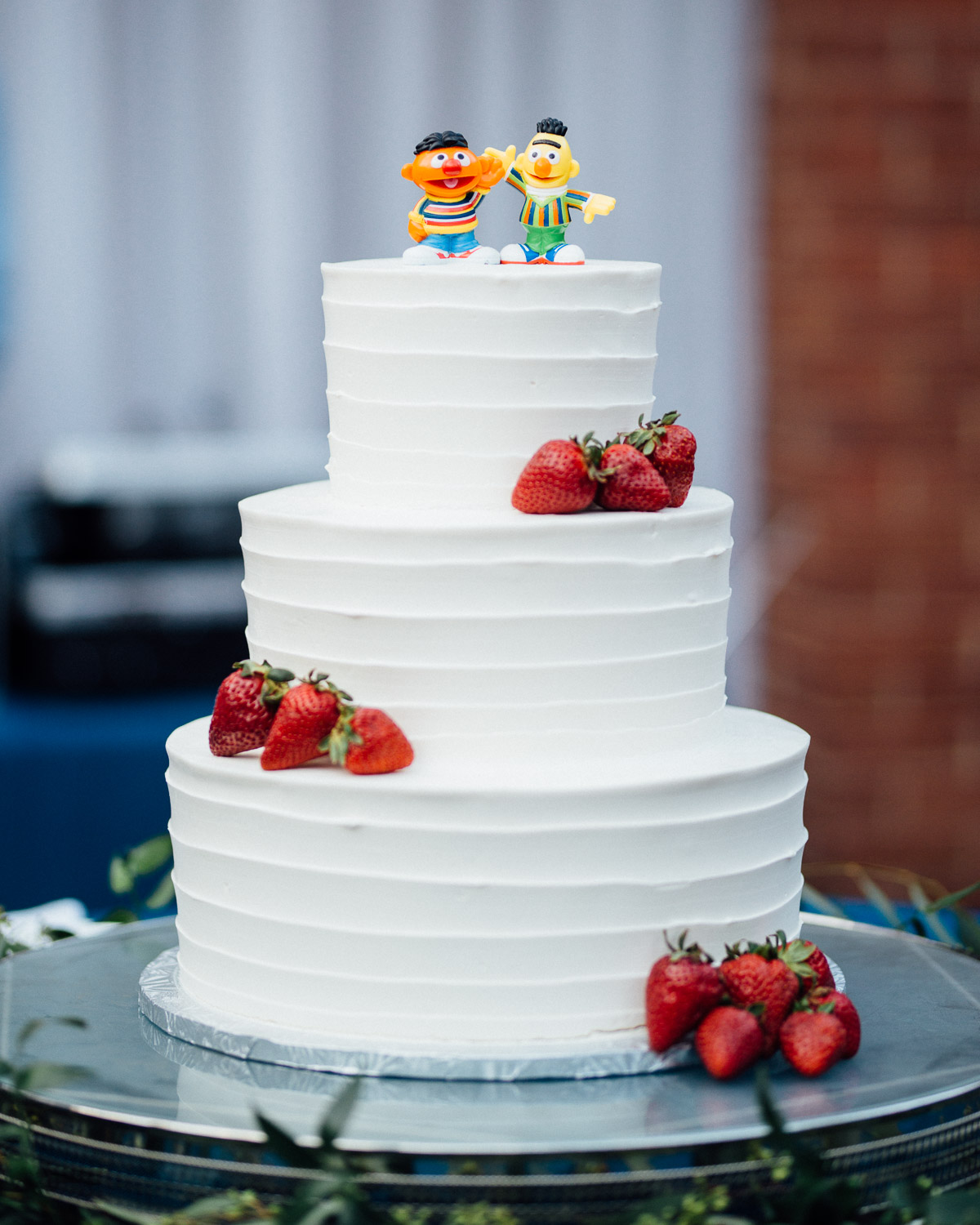bert-ernie-gay-wedding-cake Cheekwood Garden Wedding | Tom and Guy