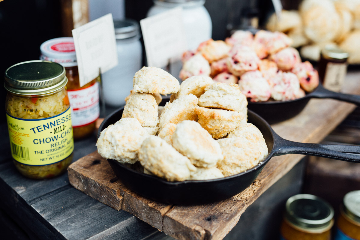 biscuit-bar-buffet Cheekwood Garden Wedding | Tom and Guy