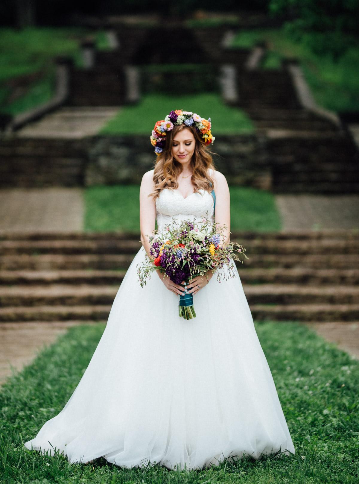 boho-bride-style Nashville Elopement Photographer | Percy Warner Park