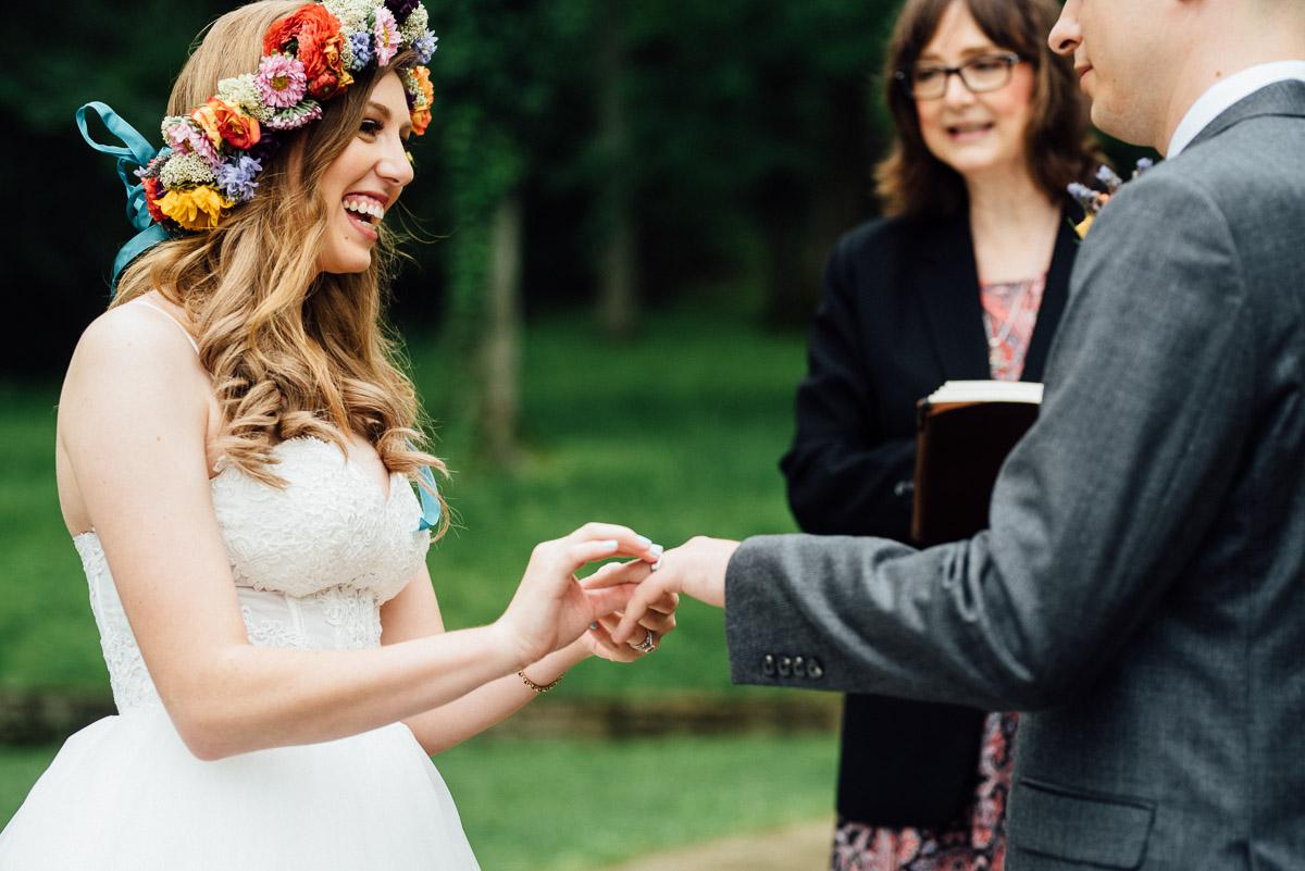 bride-ring-finger Nashville Elopement Photographer | Percy Warner Park
