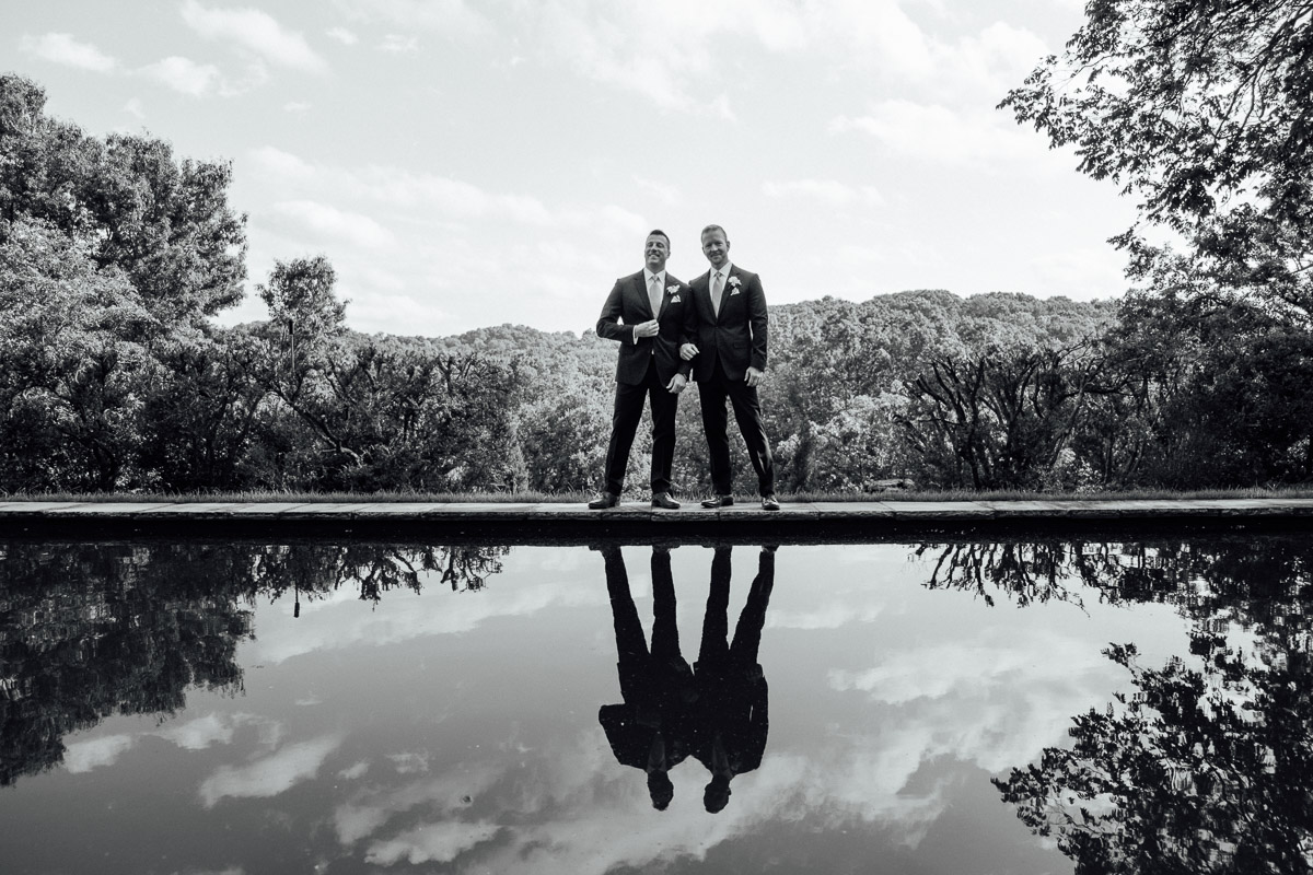 cheekwood-wedding-reflecting-pond Cheekwood Garden Wedding | Tom and Guy