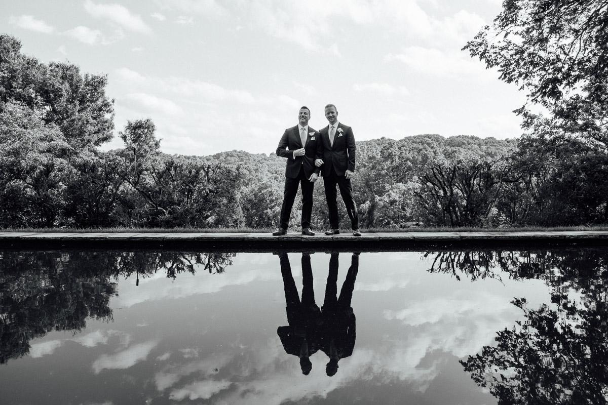cheekwood-wedding-reflecting-pond Cheekwood Garden Wedding | Tom and Guy