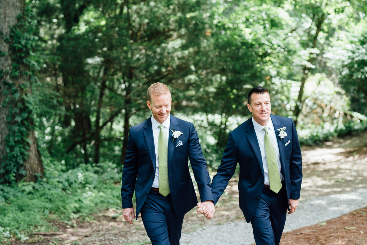 couple-in-love Cheekwood Garden Wedding | Tom and Guy