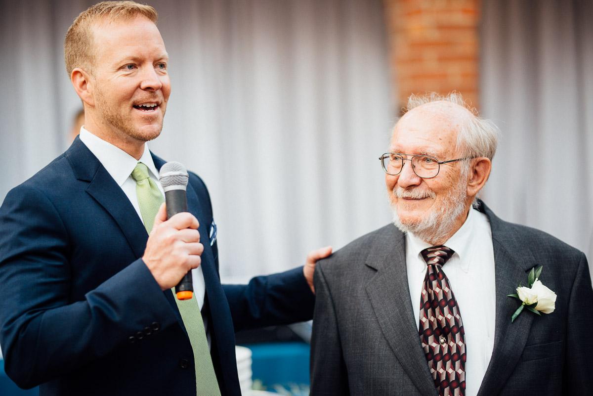 father-son-speech Cheekwood Garden Wedding | Tom and Guy
