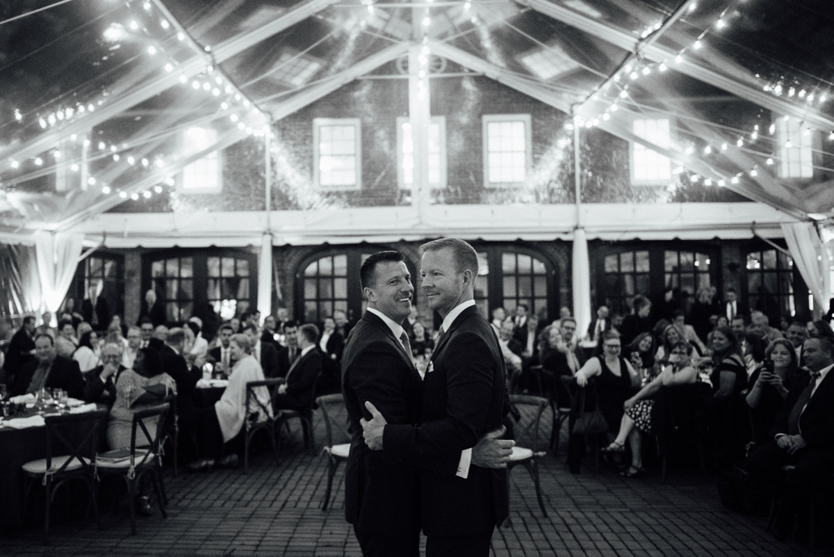 first-dance Cheekwood Garden Wedding | Tom and Guy