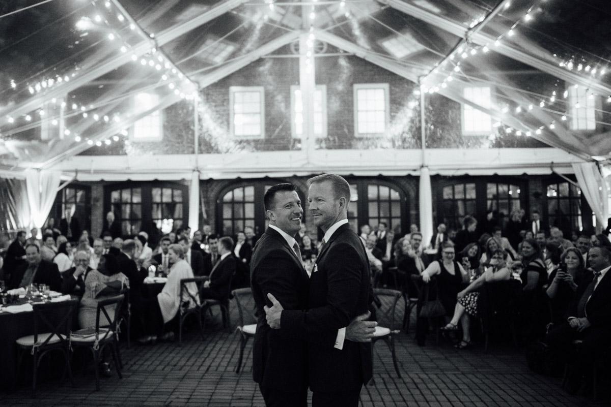 first-dance Cheekwood Garden Wedding | Tom and Guy