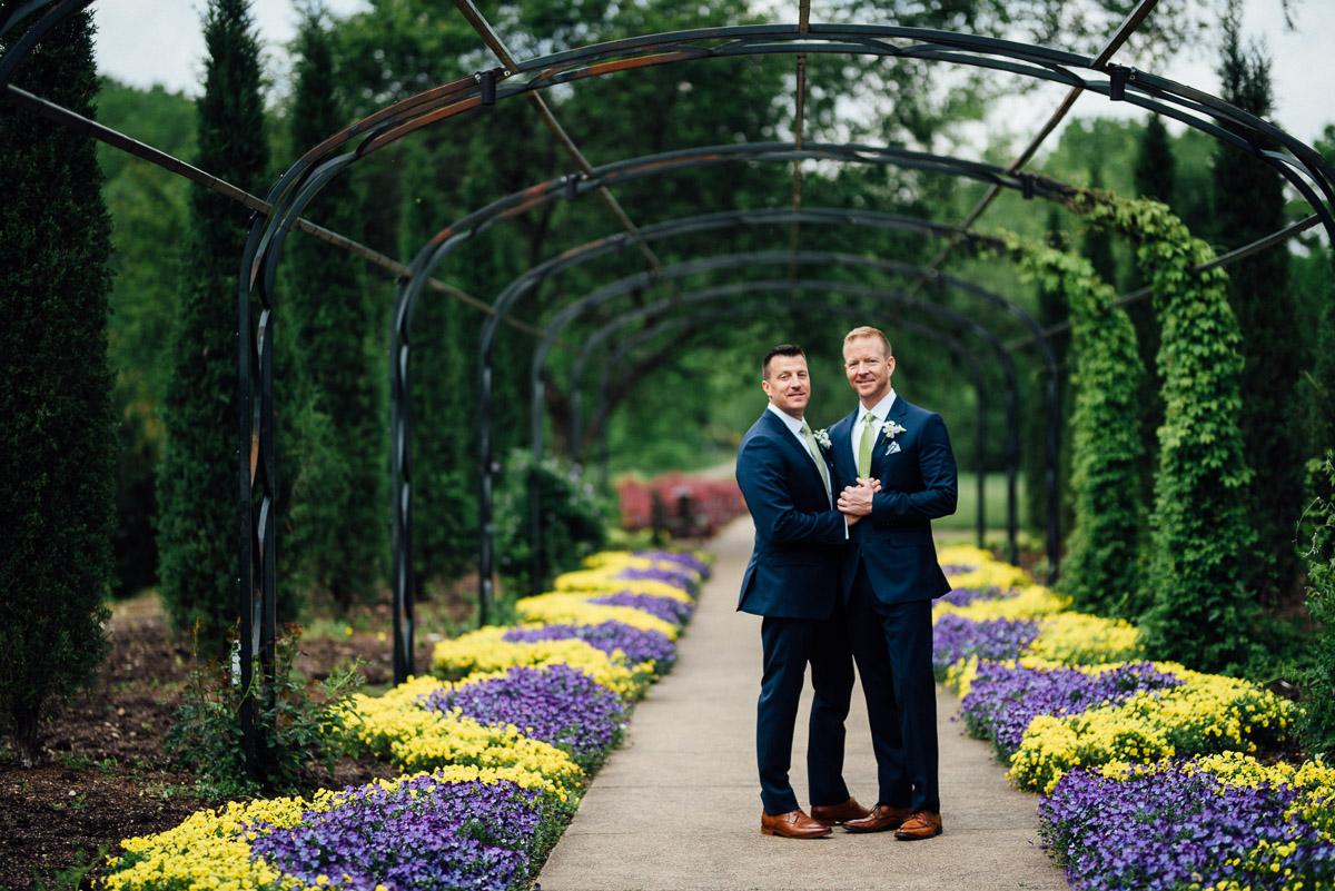 gay-wedding-nashville Cheekwood Garden Wedding | Tom and Guy