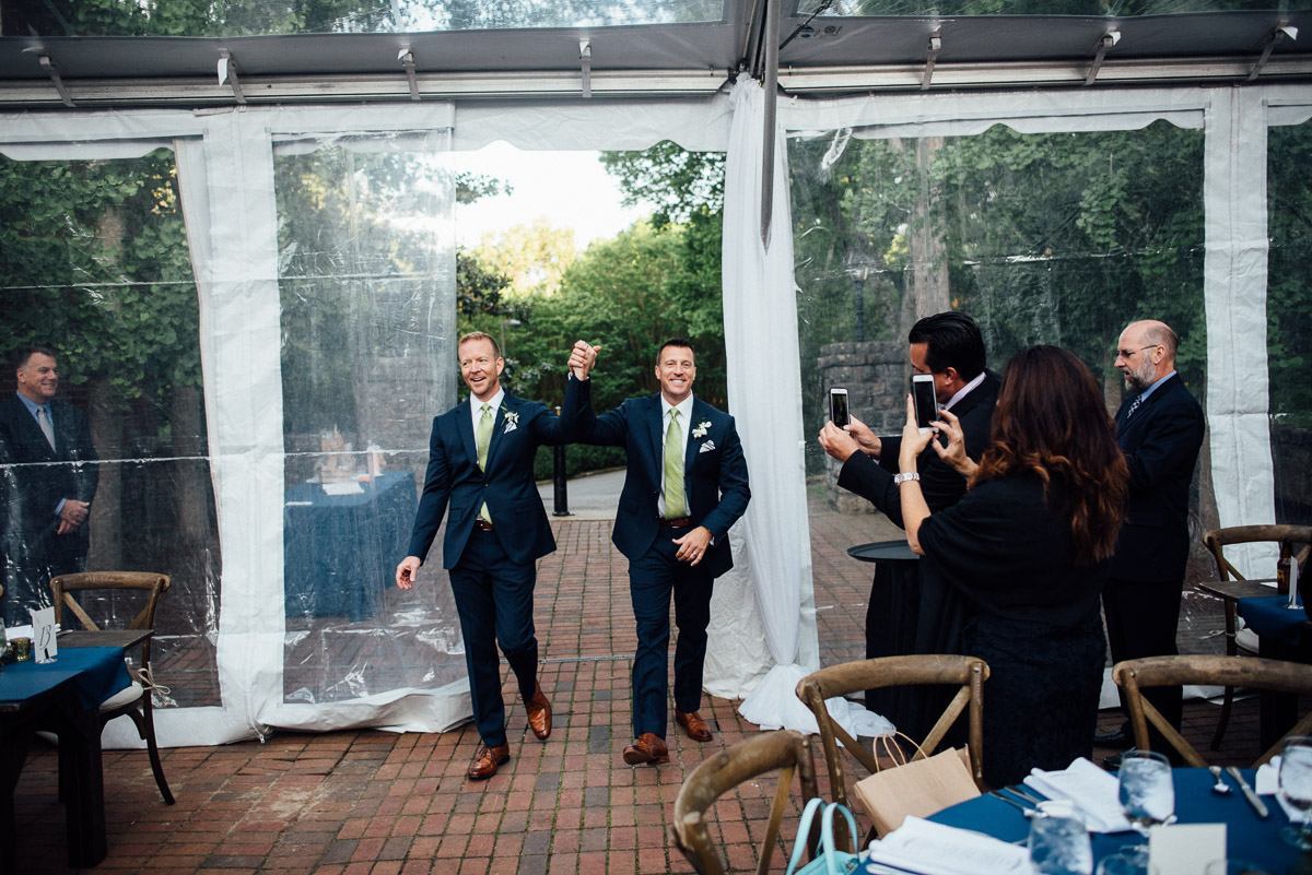 grooms-entrance Cheekwood Garden Wedding | Tom and Guy