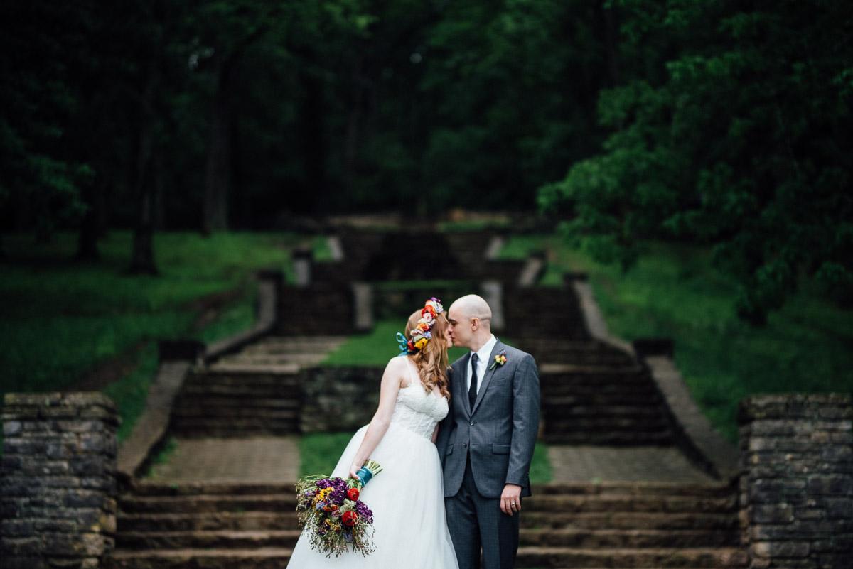 percy-warner-steps-wedding Nashville Elopement Photographer | Percy Warner Park