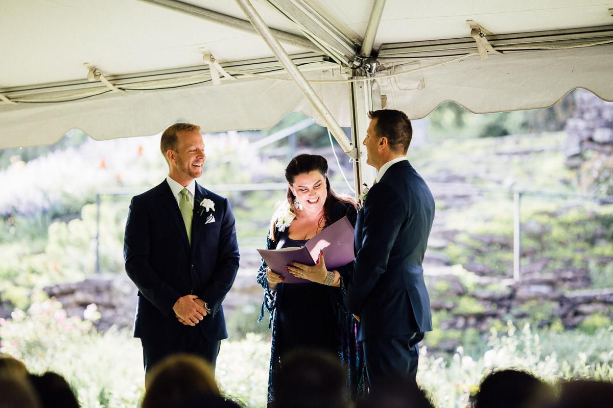 smiling-officiant Cheekwood Garden Wedding | Tom and Guy