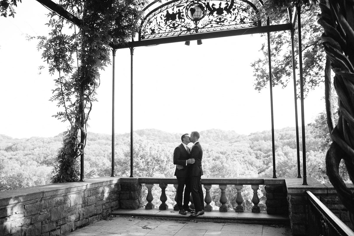 two-grooms Cheekwood Garden Wedding | Tom and Guy