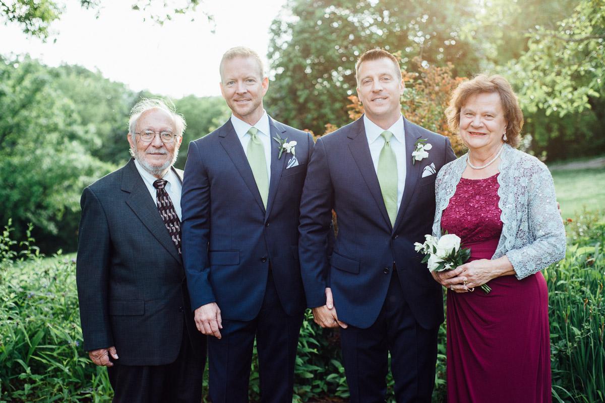 wedding-couple-portrait-parents Cheekwood Garden Wedding | Tom and Guy