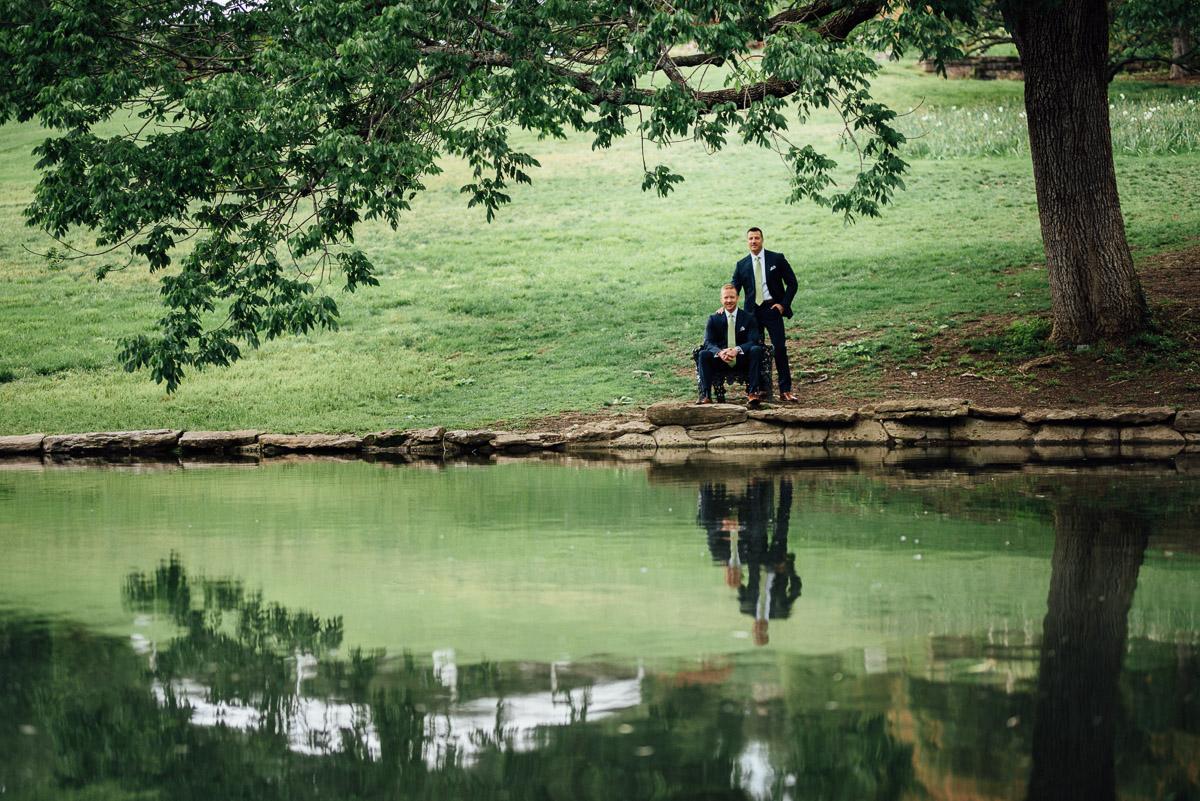 wedding-portrait-reflection Cheekwood Garden Wedding | Tom and Guy