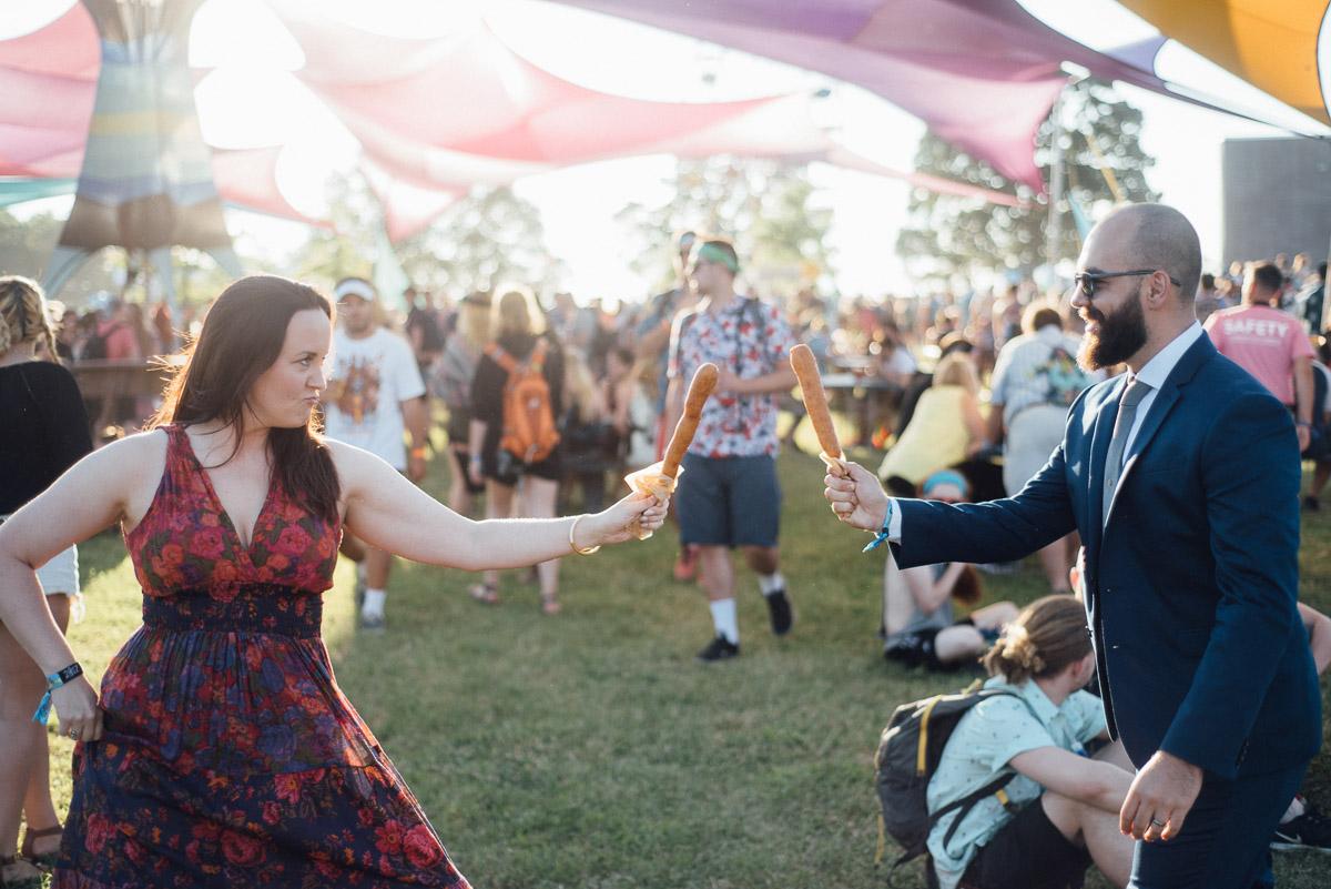 bonnaroo-corn-dog Bonnaroo Music Festival Wedding | James and Jen