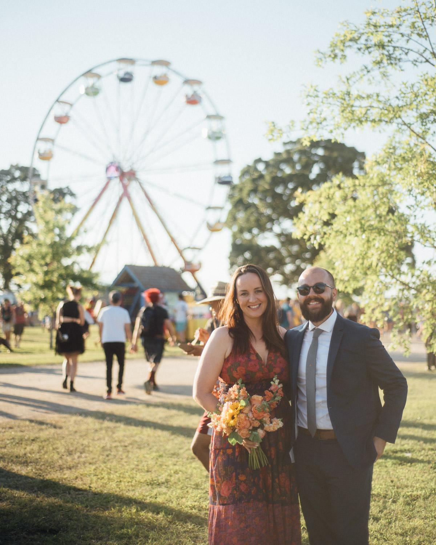 bonnaroo-couple Bonnaroo Music Festival Wedding | James and Jen
