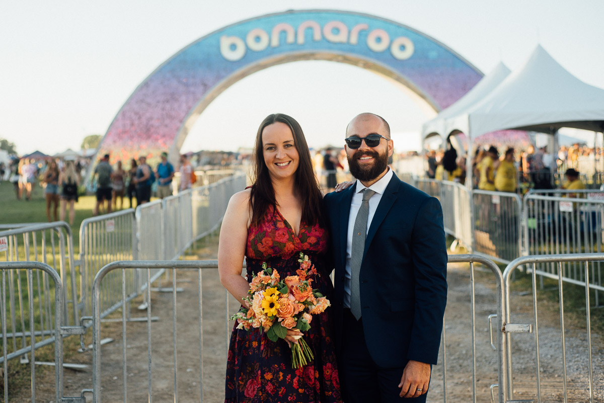 bonnaroo-wedding-arch-20 Bonnaroo Music Festival Wedding | James and Jen