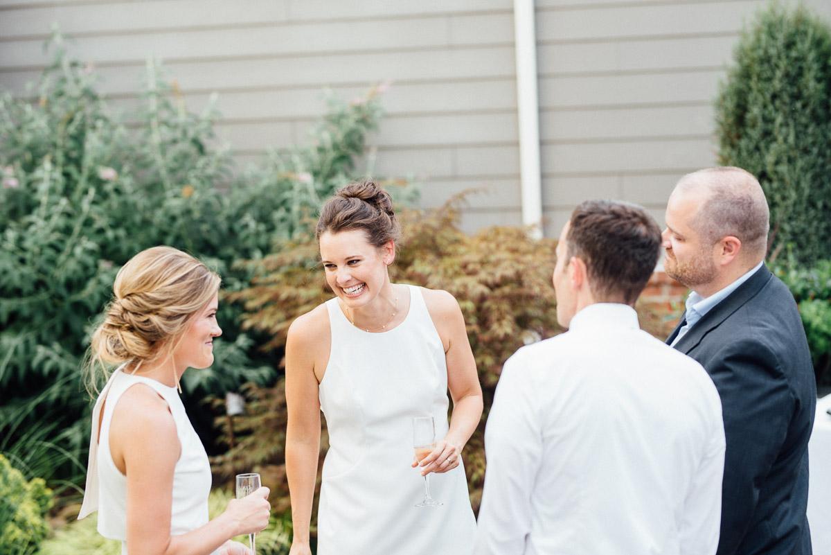 backyard-wedding-reception Becky and Kelly | Intimate Backyard Wedding