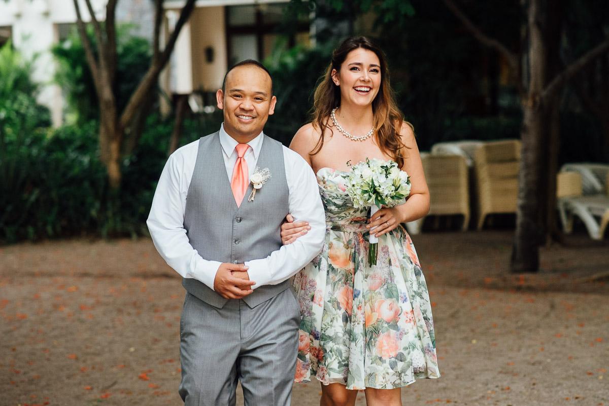 beach-bridal-party-attire Costa Rica Destination Wedding