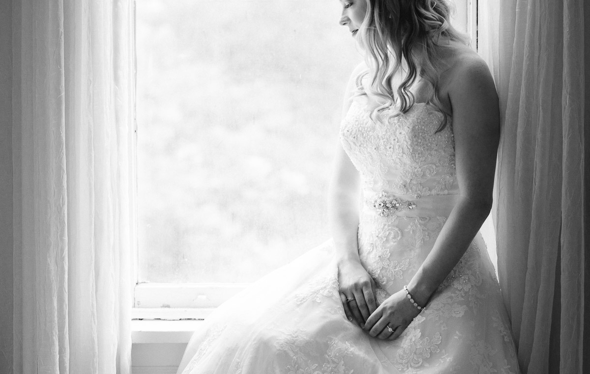 bridal-portrait-in-window Riverwood Mansion Wedding | Ashley and Kirk | Nashville, TN