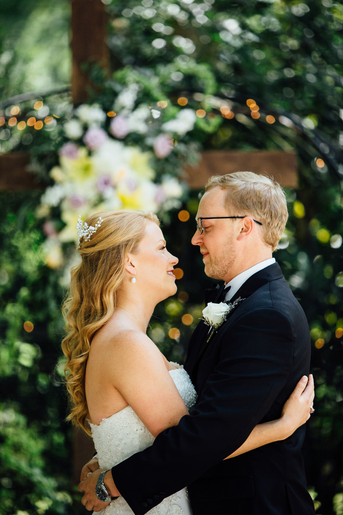 bride-groom-embrace Riverwood Mansion Wedding | Ashley and Kirk | Nashville, TN