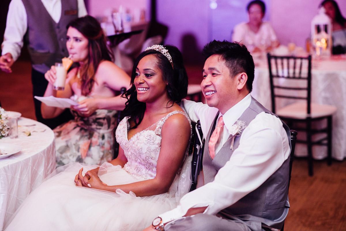 bride-groom-listening-to-speeches Costa Rica Destination Wedding